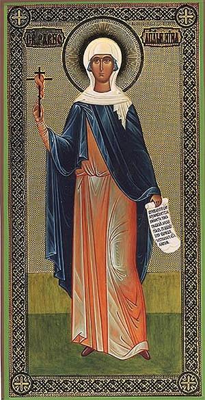 Religious Orthodox icon: St. Nino Equal-to-the-Apostles