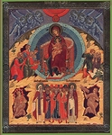 Religious Orthodox icon: Synaxis of the Most Holy Theotokos