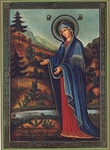 Religious Orthodox icon: Theotokos of Pyukhtitsy