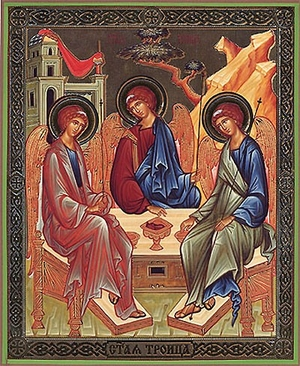 Religious Orthodox icon: Holy Trinity - 3