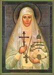 Religious Orthodox icon: Holy Hosiomartyr Great Princess Elizabeth
