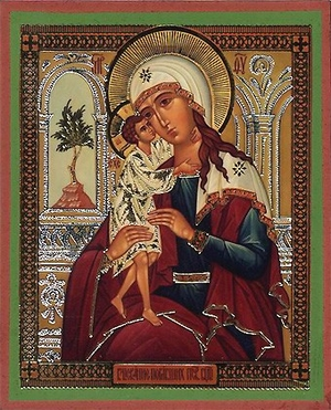 Religious Orthodox icon: Theotokos the Seeking of the Lost