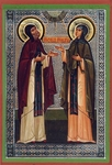 Religious Orthodox icon: Holy Venerable Cyril and Mary, the parents of St. Sergius