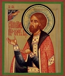 Religious Orthodox icon: Holy Right-believing Prince Oleg of Ryazan