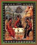 Religious Orthodox icon: Holy Trinity - 1