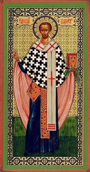 Religious Orthodox icon: Holy Hierarch John Chrysostom