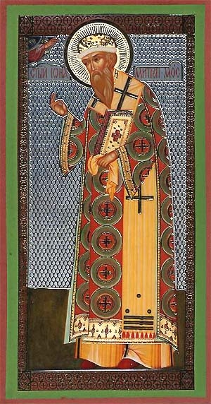 Religious Orthodox icon: Holy Hierarch Jonah the Metropolitan of Moscow