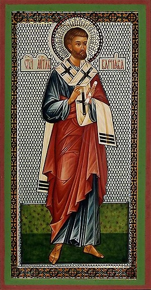 Religious Orthodox icon: Holy Apostle Barnabas
