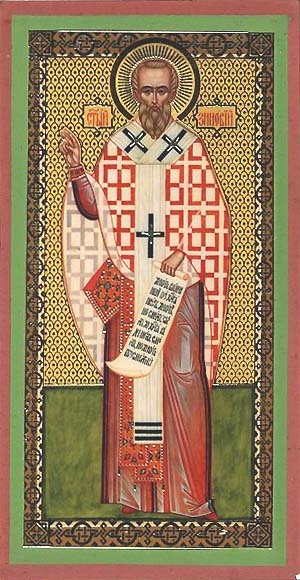 Religious Orthodox icon: Holy Hieromartyr Zenobius Bishop of Egeia