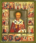 Religious Orthodox icon: Holy Hierarch Nicholas the Wonderworker - 8