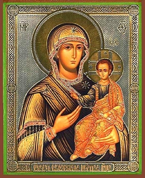 Religious Orthodox icon: Theotokos of Smolensk - 5