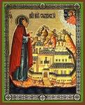 Religious Orthodox icon: Holy Venerable Nilus of Stolbensk
