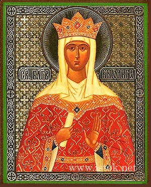 Religious Orthodox icon: Holy Right-believing Princess Olga Equal-to-the-Apostles