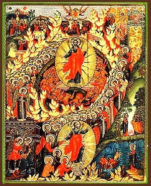 Religious Orthodox icon: Resurrection of Christ