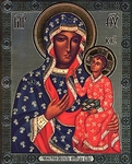 Religious Orthodox icon: Theotokos of Chenstokhov