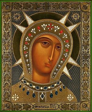 Religious Orthodox icon: Theotokos of Philerm