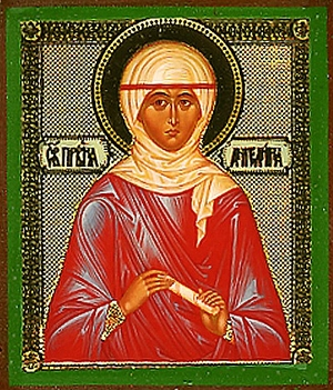 Religious Orthodox icon: Holy Righteous Angelina