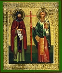 Religious Orthodox icon: Holy Cyril and Methodius Equal-to-the-Apostles