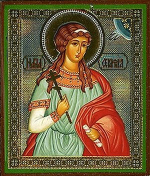 Religious Orthodox icon: Holy Martyr Seraphima
