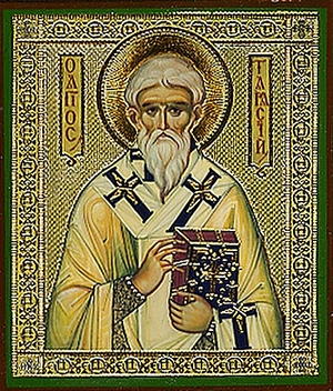 Religious Orthodox icon: Holy Tarasius