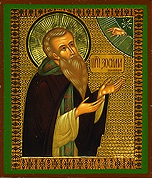 Religious Orthodox icon: Holy Venerable Zosimus of Solovki