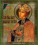 Religious Orthodox icon: Holy Right-believing Prince Demetrius