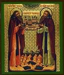 Religious Orthodox icon: Holy Venerable Zosimus and Sabbatius