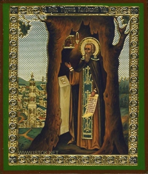 Religious Orthodox icon: Holy Venerable Tychon of Kaluga