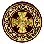 Embroidered chalice cover (round)