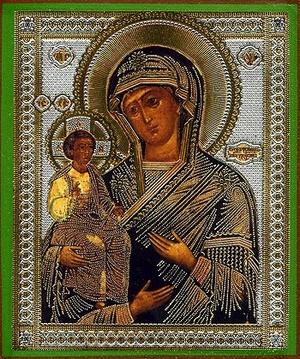 Religious Orthodox icon: Theotokos the Three Hands