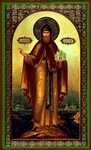 Religious Orthodox icon: Holy Venerable Daniel, the Prince of Moscow