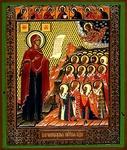 Religious Orthodox icon: Theotokos of Bogolyubovo