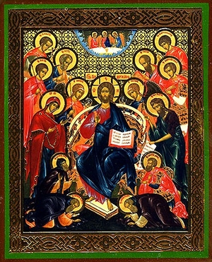Religious Orthodox icon: Deisis