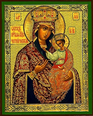 Religious Orthodox icon: Theotokos of Chernigov