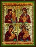 Religious Orthodox icon: The Four-part icon