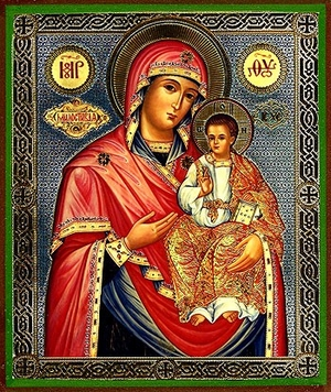 Religious Orthodox icon: Theotokos the Merciful