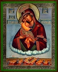 Religious Orthodox icon: Theotokos of Pochaev