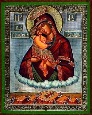 Religious Orthodox icon: Theotokos of Pochaev