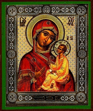 Religious Orthodox icon: Theotokos of Tikhvin - 2