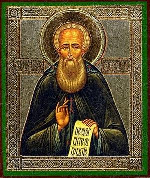 Religious Orthodox icon: Holy Venerable Alexander of Svir