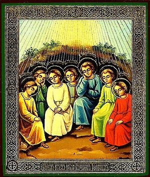 Religious Orthodox icon: Holy Seven Youths of Ephesus