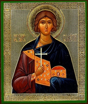 Religious Orthodox icon: Holy Martyr Valery