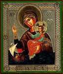 Religious Orthodox icon: Theotokos the Savior on Waters