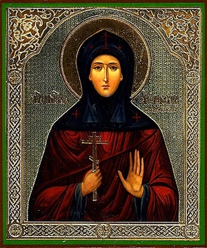 Religious Orthodox icon: Holy Venerable Ephrosinia of Souzdal