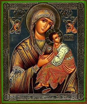 Religious Orthodox icon: Theotokos of the Passion