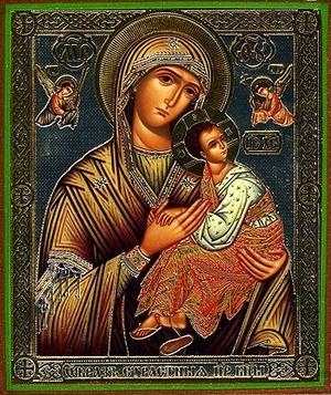 Religious Orthodox icon: Theotokos of the Passion