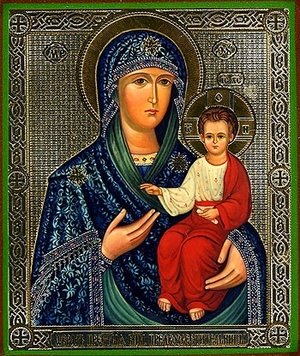 Religious Orthodox icon: Theotokos the Good Harbinger