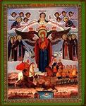 Religious Orthodox icon: Theotokos of Azov