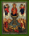 Religious Orthodox icon: Theotokos the Live-bearing Spring