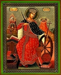 Religious Orthodox icon: Holy Great Martyr Cathrine